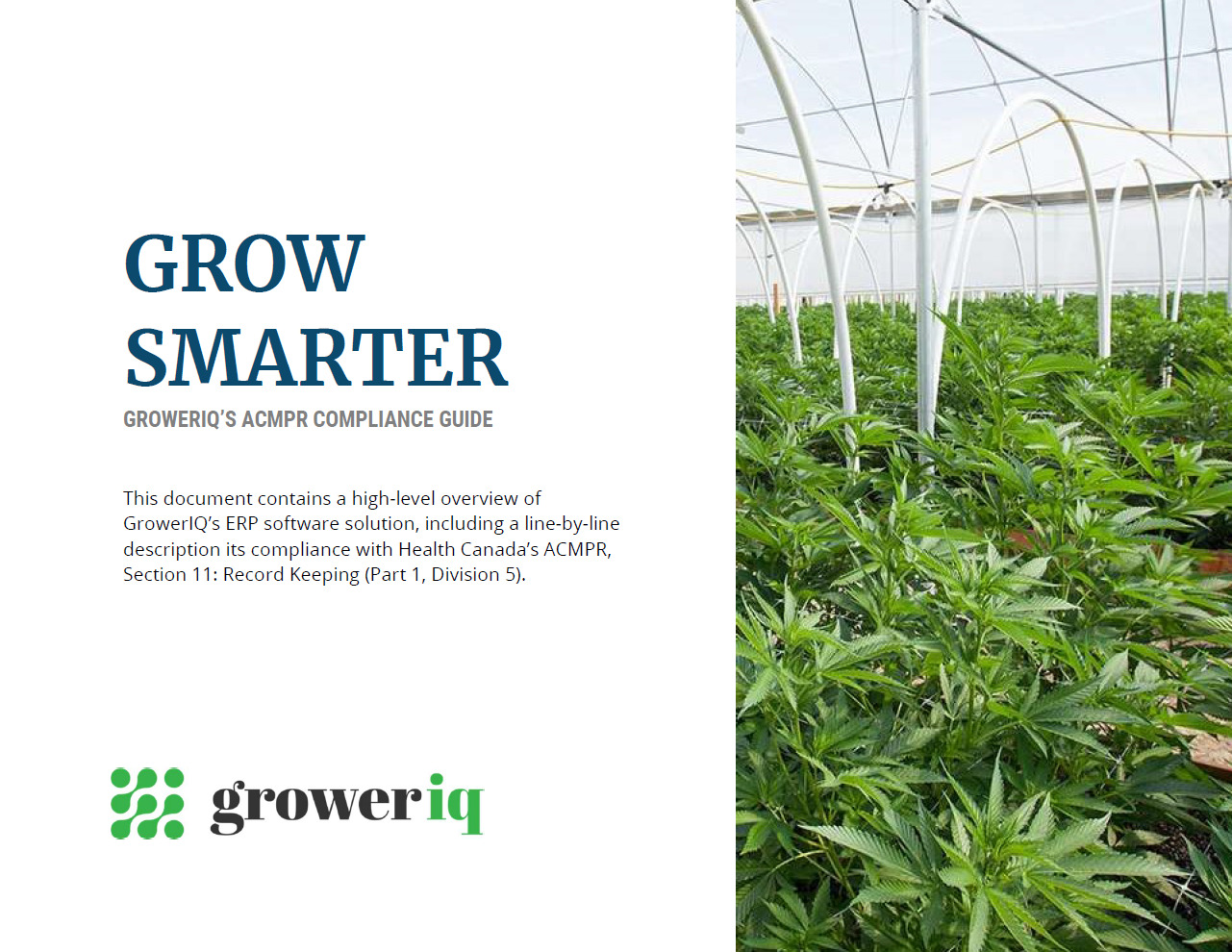 GrowerIQ's seed to sale software includes documentation about how we help keep your facility in compliance.