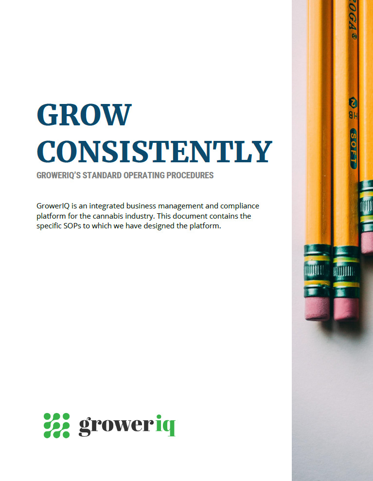 GrowerIQ's cannabis seed to sale software includes documentation about the Standard Operating Procedures we use to help keep your facility running efficiently.