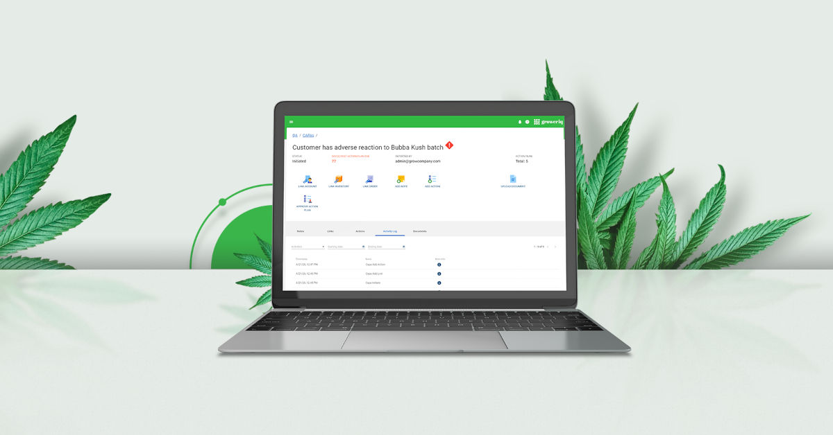 GrowerIQ's cannabis ERP includes everything you need to manage your cannabis cultivation and processing business.