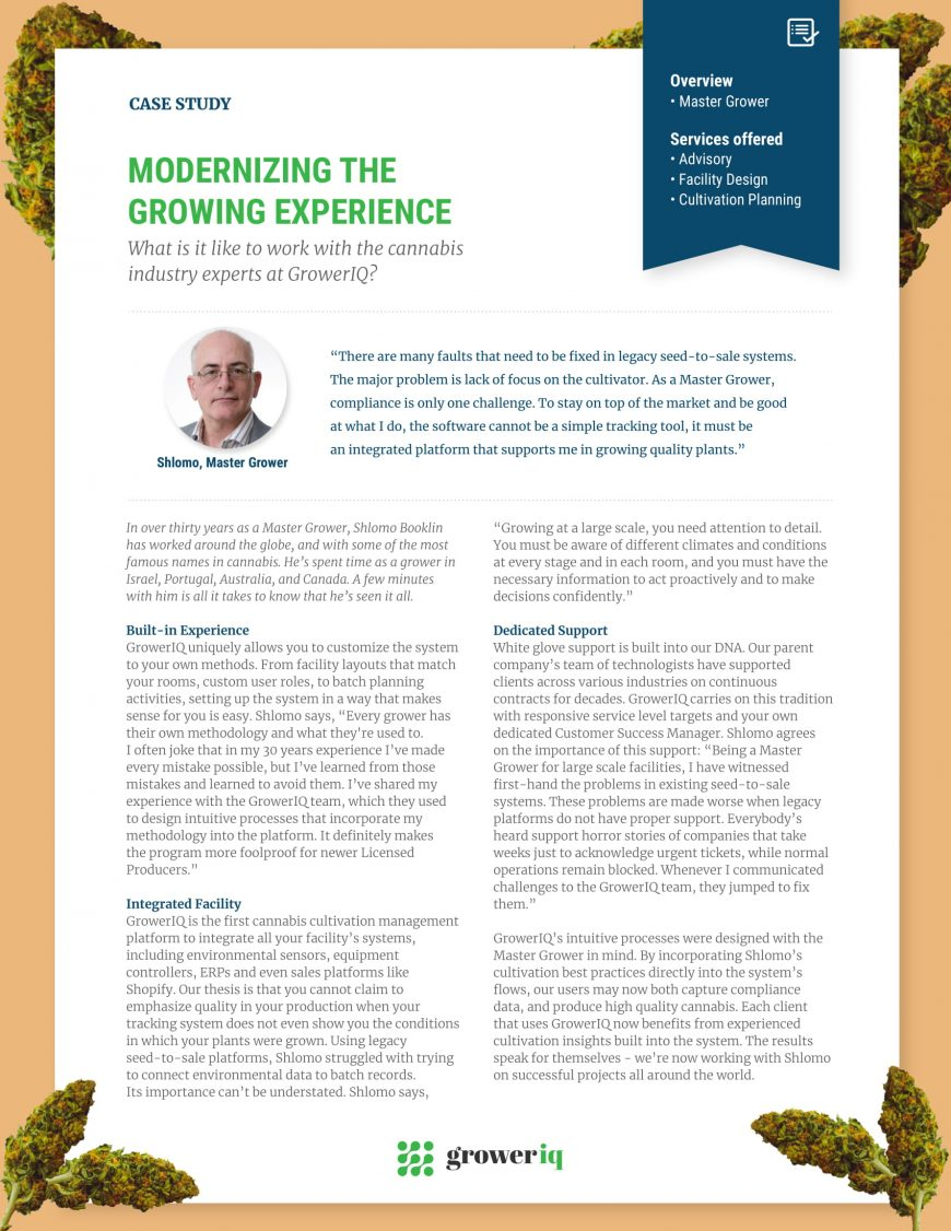 Master Grower Case Study: Modernizing the Growing Experience